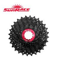 SUNRACE CSRX1 Cassette 11-28/32/36T 11 Speed Road Bike Sliver Black
