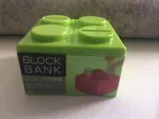 LARGE COIN BLOCK BANK MONEY BOX JAPAN ONLY LIMITED LEGO MEGO BLOCKS RARE