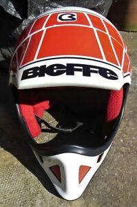 Vintage 1980s Bieffe BX6 Motocross Dirt Bike GP Helmet Yamaha Factory Colours L