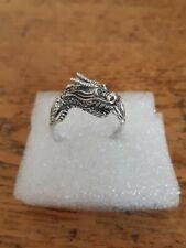 Fabulous Mens Stirling Silver 925 Dragon Ring