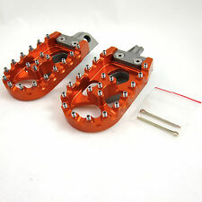 Warp 9 Billet Adventure Footpegs Foot Pegs Orange KTM All 125-1190 1998-2015 NEW