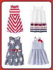 NWT Gymboree Star Spangled Summer Dress Size 4 5 6 7 8 10 12 Striped 4th Of July