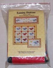 Running Chickens Wallhanging Kit + Patterns for Placemats & Tablerunner