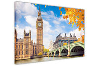 LONDON CITY PRINTS BIG BEN FRAMED CANVAS WALL ART PICTURES HOME DECORATION PHOTO