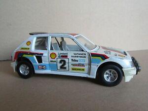 925O Burago 0106 Italy Peugeot 205 T16 #2 Rally Rac Lombard 1984 Vatanen 1:25