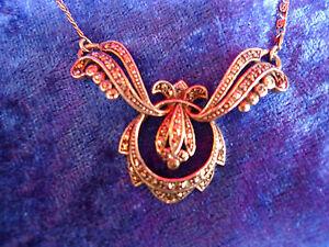 schöne, alte Kette , Halskette, 925 Silber , Collier mit Markasit