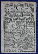 Original antique county map, ENGLAND, CAMBRIDGESHIRE, Emanuel Bowen, 1724