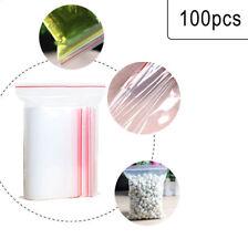 100pcs Resealable Zip Lock Plastic Bag Clear Vacuum Reclosable Package Bag-WI