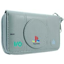 NEW OFFICIAL PLAYSTATION ORGINAL CONSOLE GREY COIN & CARD CLUTCH PURSE
