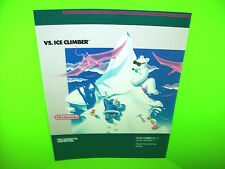 Nintendo VS ICE CLIMBER Original NOS 1985 Video Arcade Game Promo Sales Flyer