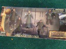 The Hobbit Mirkwood Hero Pack 5 Figures Thranduil Tauriel Legolas Dwarf - Sealed