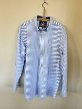 Pussers British West Indies Nautical Stripe Button Up Shirt Large
