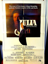 Julia 1977 Fine Original US movie poster Jane Fonda Vanessa Redgrave Amsel art
