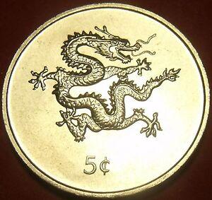 Liberia 2000 5 Cents Gem Unc~Dragon Coin