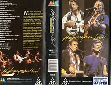 HIGHWAYMEN LIVE! - VHS - NEW & SEALED - Never played -Very, very rare!! - PAL