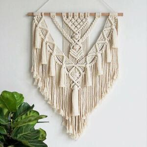 Macrame Handmade Woven Wall Art Bohemian Hanging Tapestry Room Home Decor UK