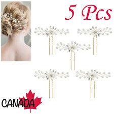 5X Bridal Hair Pins Set Vine Comb Pearl Crystal Handmade Wedding Bridesmaid CA