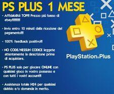 PS PLUS 1 MESE PLAYSTATION 4 LEGGI DESCRIZIONE NO CODICE  - PS4 28 GIORNI