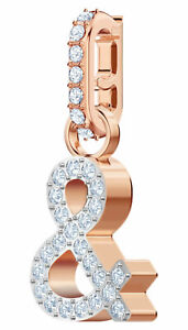 """Swarovski Remix Collection """"&"""" Ampersand Charm Crystals Rose Gold Plated 5441403"""