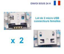 Lot 2 connecteurs a souder Micro USB type B femelle 5 PIN pour tablette/mobile