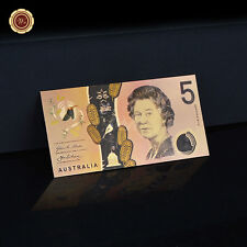 WR New Generation Australia 2016 $5 Banknote World Notes Collect Gifts 24K Gold