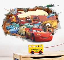 Lovely Car Disney Wall Stickers Living Room Home Decor Art Mural  UK Seller
