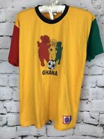 Ghana Teletubbies Soccer Flag Shirt - Yellow Red Ghanaian Mens T-shirt Small