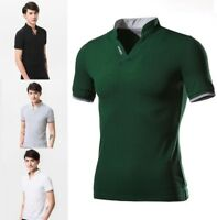 Polo Shirt Men Slim Fit Short Sleeve Breathable Quality Casual Patch Design Polo