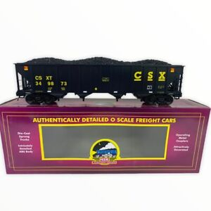 20-90746 MTH CSX 4-Bay Hopper Car w/Coal Load