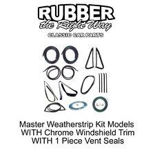 1985 -  1987 Chevy & GMC Truck Master Weatherstrip Kit Chrome Lockstrip