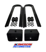 "4"" Rear Lift Blocks U Bolt Kit Ford F250 F350 Super Duty and Excursion 2WD 4WD"