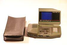 "RARE RETRO GENEXXAPOCKETVISION 812 TV RADIO WORKING WITH CASE COVER 2.8"" LCD"