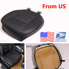 Breathable Luxury Black PU Leather Car Seat Protector Cover Cushion Mat From USA