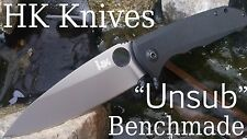 H&K by Benchmade HK Unsub G10 Assisted Knife, Black ~ Brand New in Box