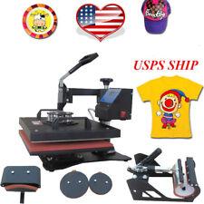 【US+CA】Heat Press Transfer Machine T-Shirt Mug Cap Sublimation Printer Printing