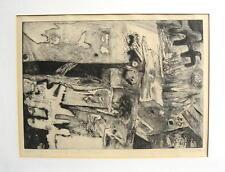 große Radierung, undeutlich handsigniert M.... 1976 / frei nach Pablo Merida