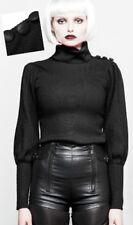 Pull bouffant gothique punk lolita fashion militaire boutons hiver chic Punkrave