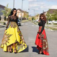 Mode African Women Printed Boho Beach Evening Party Cocktail Long Dress Skirt