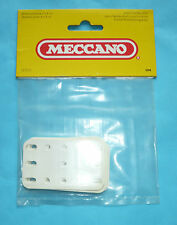 Six Meccano plastic plates part 194 white in original factory pack
