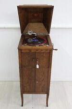Son295 Antik Grammophon Kommode um 1910er-20er Eiche Europa