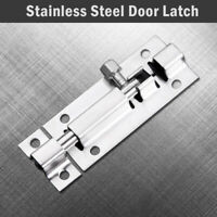 Door Shed Lock Bolt Catch Latch Slide For Bathroom Toilet Bedroom Stainless