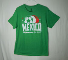 Mexico International Soccer 2014 FIFA World Cup Brazil Shirt LARGE Mens Clothing