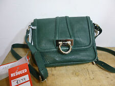 BNWT Pure Collection Verde in Pelle Cross Corpo Borsa a mano