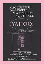 "Alec Guinness ""YAHOO"" Nicola Pagett / Angela Thorne 1976 London Revue Flyer"