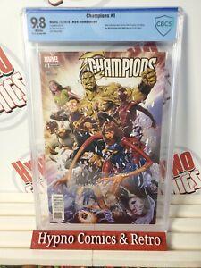 Champions #1 Brooks Variant CGC 9.8 NM/MT Marvel 2016 1st App. New Team