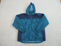 Columbia Jacket Womens Extra Large Green Blue Full Zip Coat Hooded Ladies