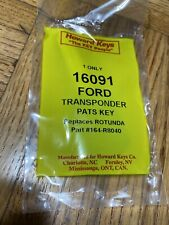 HOWARD KEYS New 16091 FORD TRANSPONDER PATS KEY
