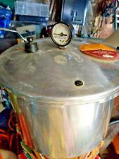 16? Quart Presto Pressure Canner Cooker  Vintage Deluxe Pressure Gauge