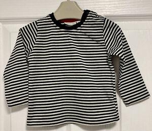 JOJO MAMAN BEBE 6-12 Months (6-9, 9-12) Baby Boy Girl Navy Breton Striped Top