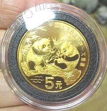 1993 China Kupfer 5 Yuan Panda Münze Verpackt in Kapsel